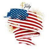 Флаг Дня независимости развевая Стоковая Фотография