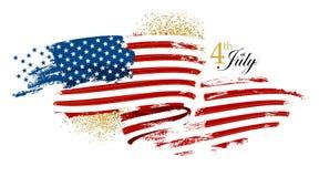 Флаг Дня независимости развевая Стоковая Фотография RF