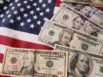 Флаг долларов и Америки Стоковая Фотография RF
