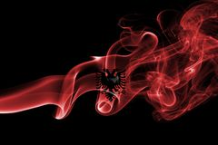 Флаг дыма Албании Стоковое Фото