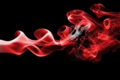 Флаг дыма Албании Стоковое фото RF