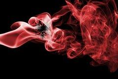 Флаг дыма Албании Стоковые Изображения RF