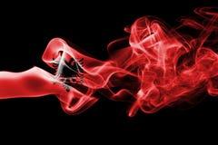 Флаг дыма Албании Стоковые Фото