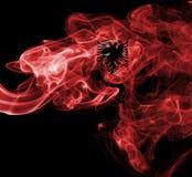 Флаг дыма Албании Стоковые Изображения