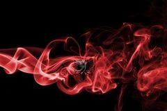 Флаг дыма Албании Стоковая Фотография RF