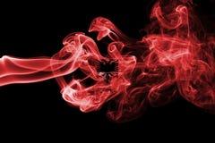 Флаг дыма Албании Стоковое Изображение RF