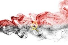 Флаг дыма Анголы Стоковые Фото