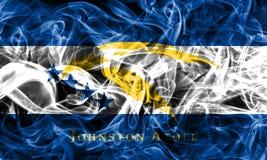 Флаг дыма атолла Johnston, территория fl Соединенных Штатов зависимая стоковые фото