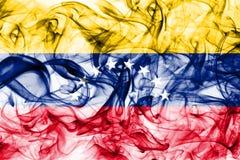 Флаг дыма Венесуэлы на белой предпосылке стоковое изображение rf