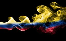 Флаг дыма Колумбии Стоковая Фотография