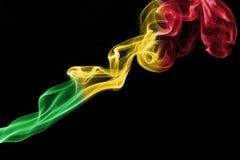 Флаг дыма Мали Стоковые Изображения