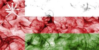 Флаг дыма Омана изолированный на белой предпосылке Стоковое Изображение RF