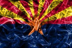 Флаг дыма положения Аризоны, Соединенные Штаты Америки стоковые изображения rf