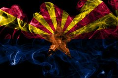 Флаг дыма положения Аризоны, Соединенные Штаты Америки стоковое фото