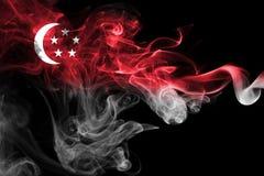 Флаг дыма Сингапура национальный Стоковое Изображение