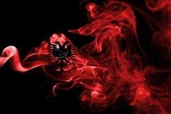 Флаг дыма Alabania национальный Стоковые Фотографии RF