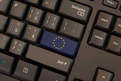 Флаг Европейского союза на клавиатуре Стоковое Изображение RF