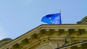 Флаг Европейского союза e. - видеоматериал