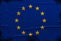 Флаг Европейского союза Grunge Стоковое Изображение RF