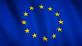 Флаг Европы в замедлении акции видеоматериалы
