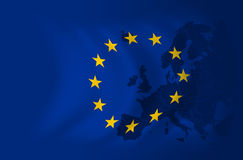 флаг европы предпосылки Стоковое Изображение RF