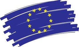 флаг европы иллюстрация вектора