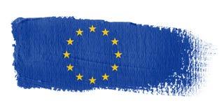 флаг европы brushstroke Стоковое Изображение RF