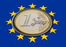 флаг евро стоковые изображения