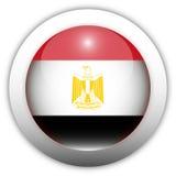 флаг Египета кнопки aqua Стоковое Изображение