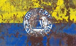 Флаг задымления городов берега реки, положение Калифорнии, Соединенные Штаты Am Стоковые Фотографии RF