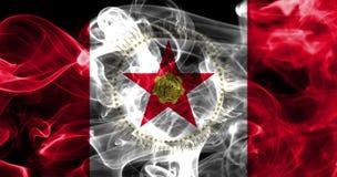 Флаг задымления городов Бирмингема, положение Алабамы, Соединенные Штаты Amer Стоковые Фото