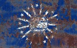 Флаг задымления городов буйвола, штат Нью-Йорк, Соединенные Штаты Americ Стоковое фото RF