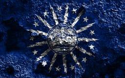 Флаг задымления городов буйвола, штат Нью-Йорк, Соединенные Штаты Americ Стоковая Фотография