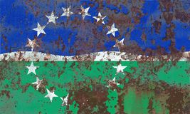 Флаг задымления городов дорог Hampton, положение Вирджинии, Соединенные Штаты  Стоковые Изображения
