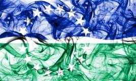 Флаг задымления городов дорог Hampton, положение Вирджинии, Соединенные Штаты Америки Стоковые Изображения