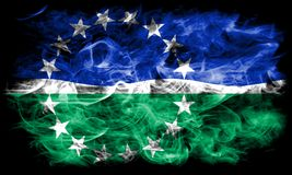 Флаг задымления городов дорог Hampton, положение Вирджинии, Соединенные Штаты Америки Стоковая Фотография