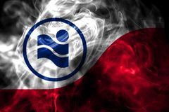 Флаг задымления городов Ирвинга, положение Техаса, Соединенные Штаты Америки стоковые фотографии rf