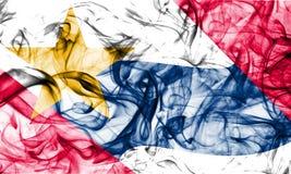 Флаг задымления городов Лафайета, положение Индианы, Соединенные Штаты Америки стоковое фото rf