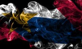 Флаг задымления городов Лафайета, положение Индианы, Соединенные Штаты Ameri Стоковое Изображение RF
