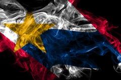 Флаг задымления городов Лафайет, государство Индианы, Соединенные Штаты Америки бесплатная иллюстрация