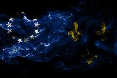 Флаг задымления городов Луисвилла старый, положение Кентукки, Соединенные Штаты  иллюстрация вектора