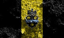 Флаг задымления городов Питтсбурга, положение Пенсильвании, Соединенные Штаты  Стоковое Фото