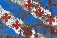 Флаг задымления городов Роквилла, положение Мэриленда, Соединенные Штаты Amer Стоковые Фото