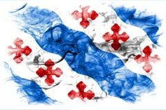 Флаг задымления городов Роквилла, положение Мэриленда, Соединенные Штаты Amer стоковые изображения