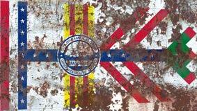 Флаг задымления городов Тампа, положение Флориды, Соединенные Штаты Америки бесплатная иллюстрация