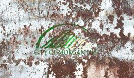 Флаг задымления городов холма Моргана, положение Калифорнии, Соединенные Штаты  стоковая фотография rf
