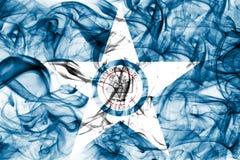Флаг задымления городов Хьюстона, положение Техаса, Соединенные Штаты Америки Стоковое Фото
