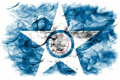 Флаг задымления городов Хьюстона, положение Техаса, Соединенные Штаты Америки Стоковая Фотография