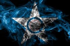Флаг задымления городов Хьюстон, государство Техаса, Соединенные Штаты Америки стоковые фотографии rf