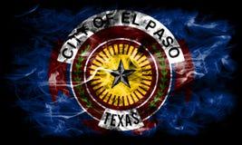 Флаг задымления городов Эль-Пасо, положение Техаса, Соединенные Штаты Америки стоковые фотографии rf